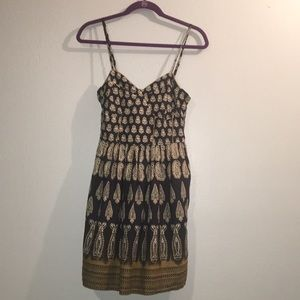 Band of Gypsies Navy Paisley Fit n Flare Dress D30
